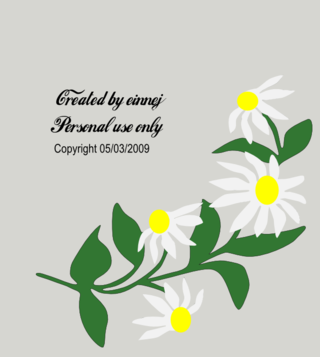 EINNEJ: Free Mother's Day Daisy gsd, svg and plt files: