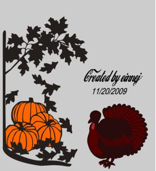 Pumpkinsandleaveswithturkey