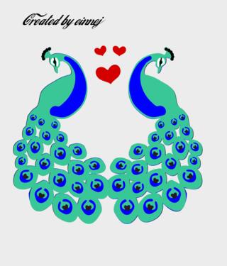 Peacockfulltwofacing