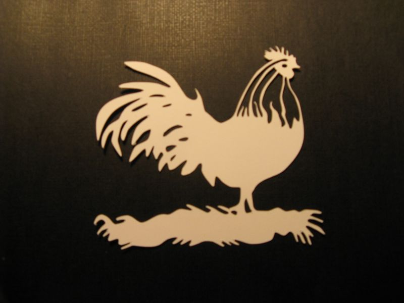 Rooster silohuette
