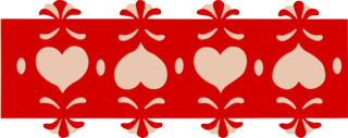 Heart lace border