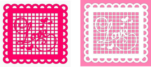 Love lattice with scallops