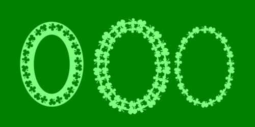 Shamrock ovals