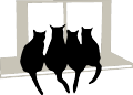 Free svg, gsd, dxf file design of Cats on Window Sill
