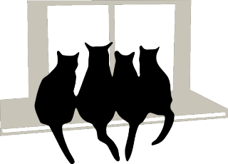Cats on window sill 2